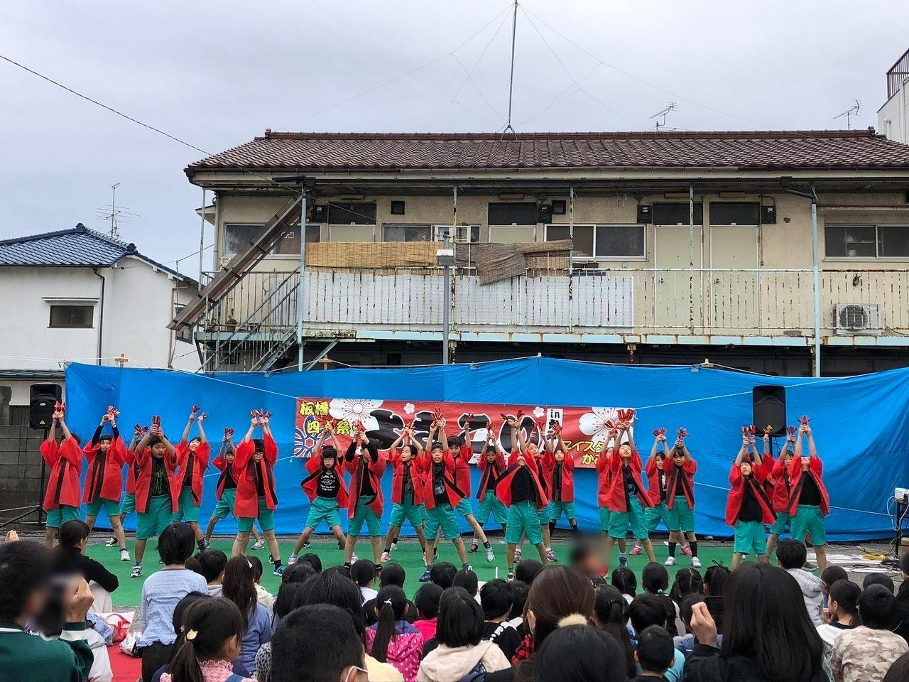 中台小学校児童たちの踊り