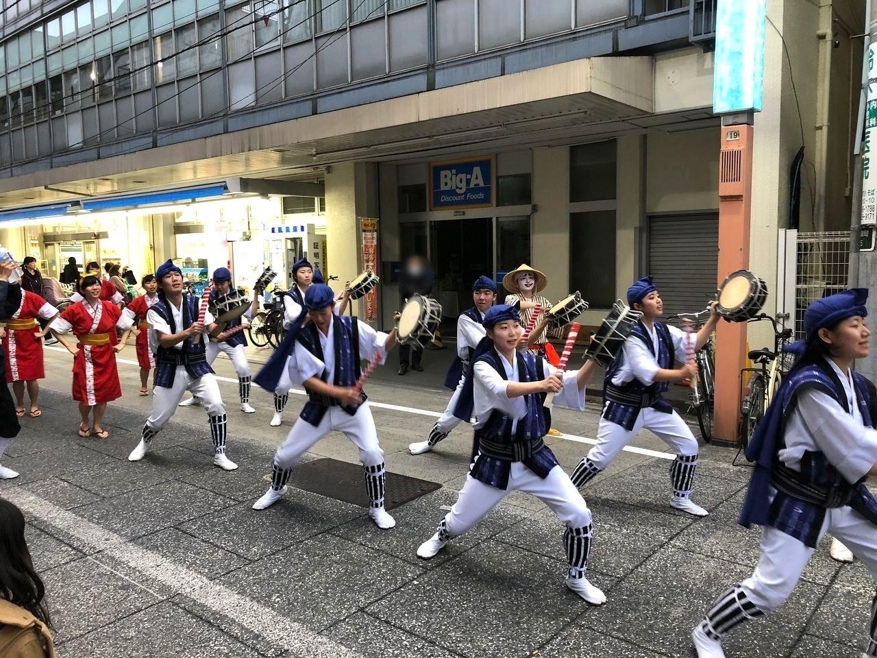 板橋エイサー道じゅね~2018 桜風エイサー琉球風車