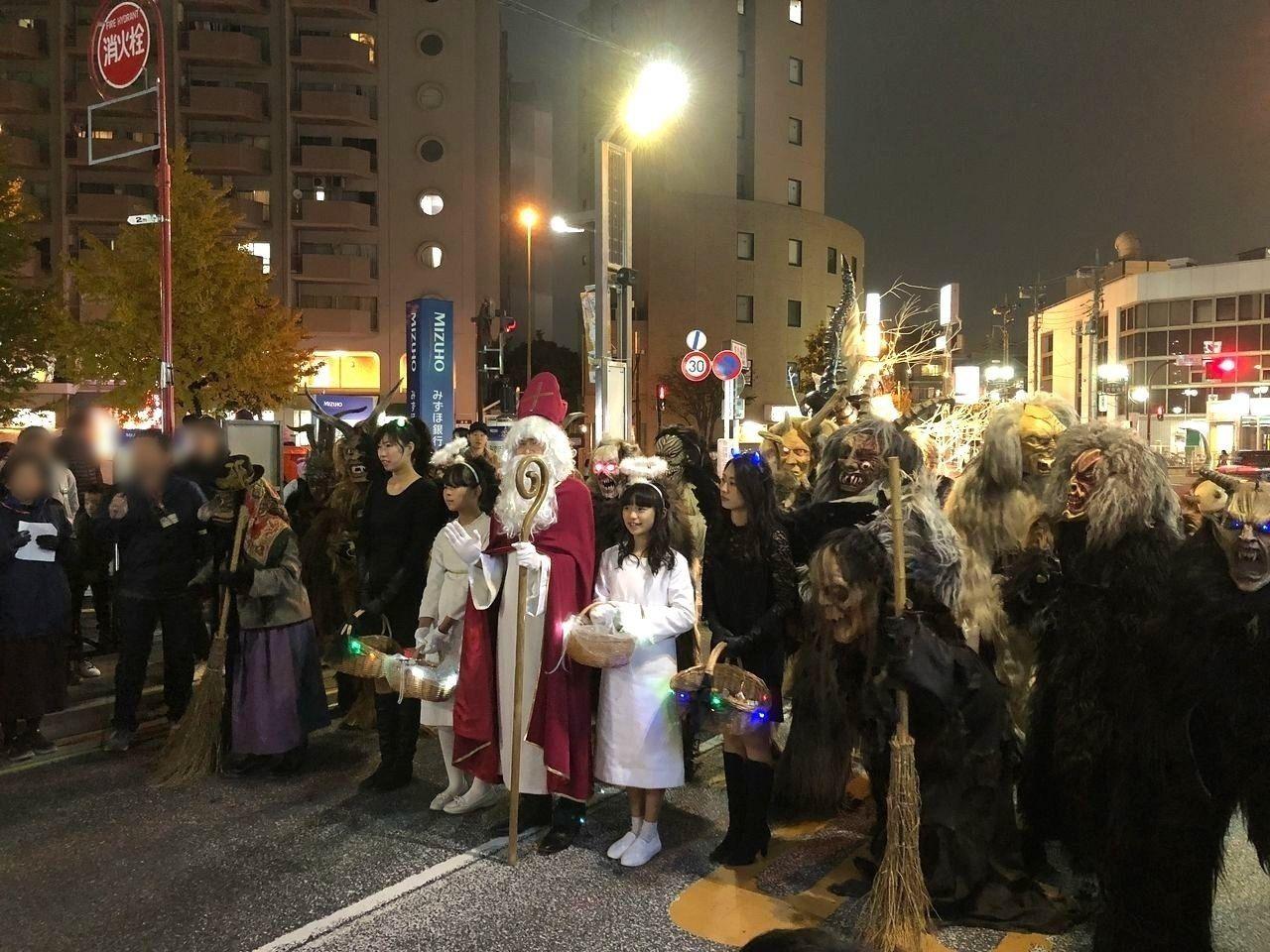 志村坂上のクランプスパレード(2018年)