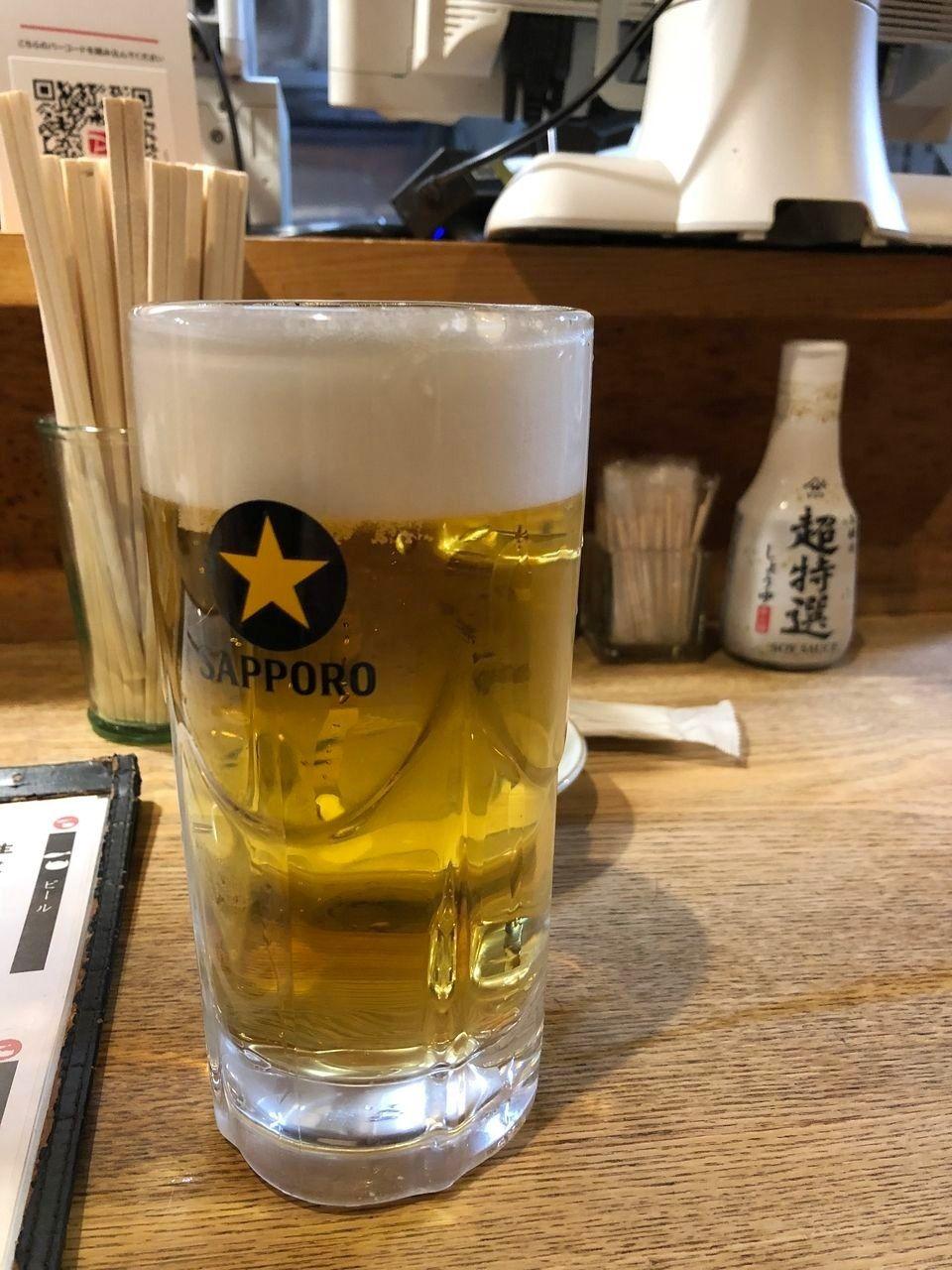 サッポロ黒ラベル(中) 580円