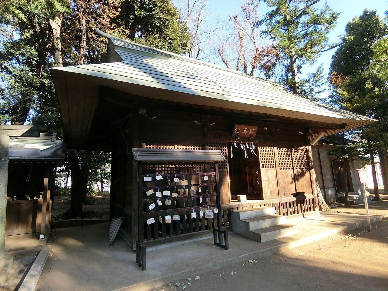 城山熊野神社(志村熊野神社)の絵馬殿