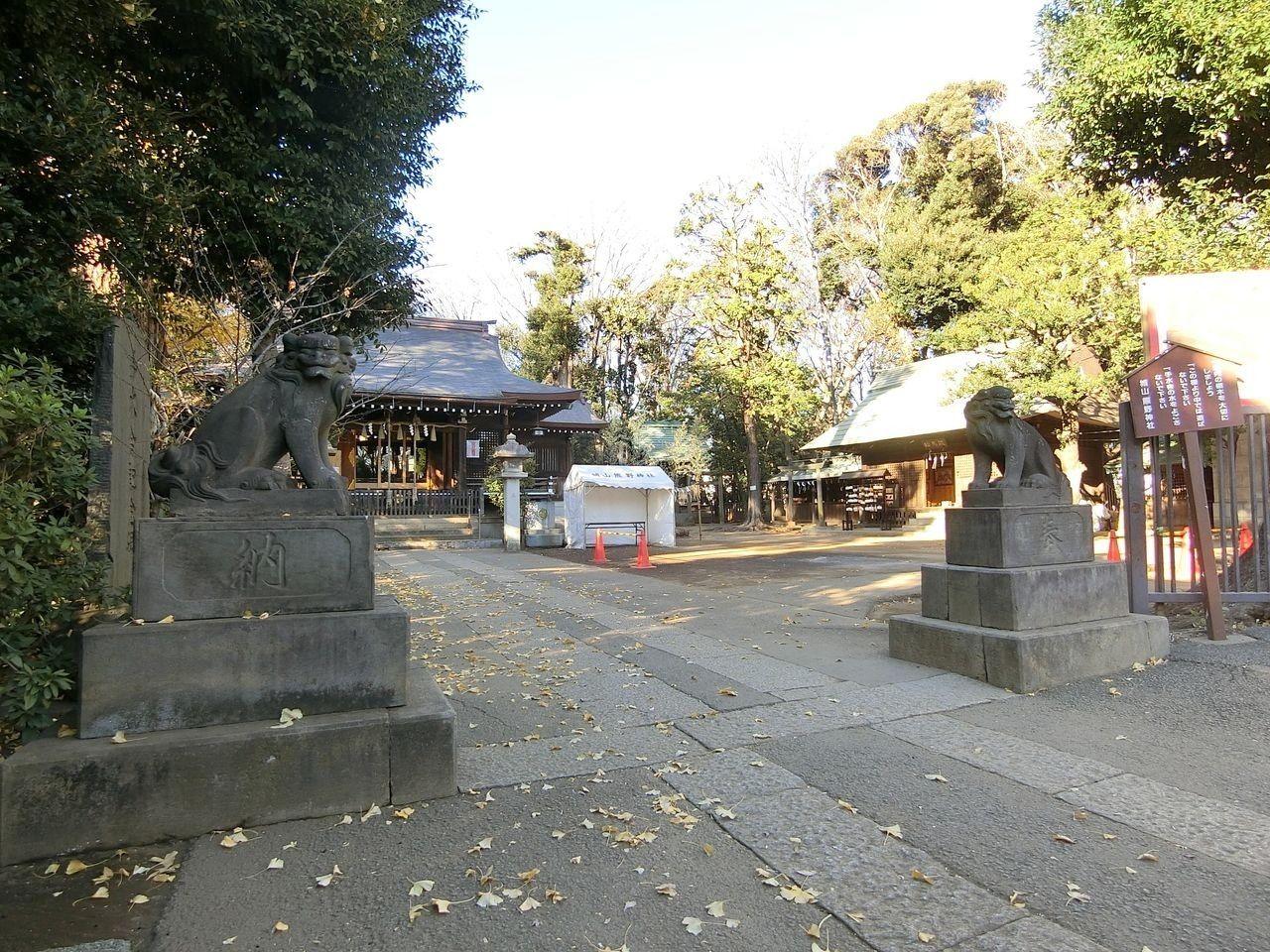 城山熊野神社(志村熊野神社)の狛犬